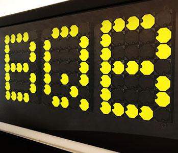 Letrero led lateral para autobús
