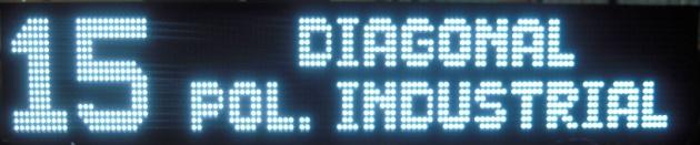 Letrero de LED Blanco para autobuses